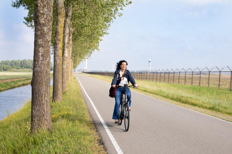 Op de e-bike