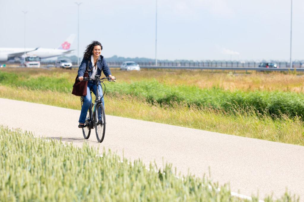 Op de e-bike naar werk
